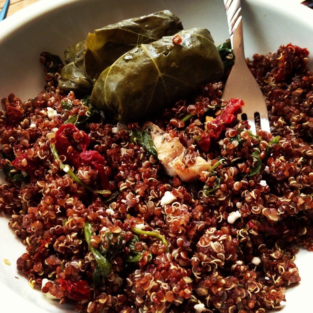 Balsamic Red Quinoa with Spinach & Feta