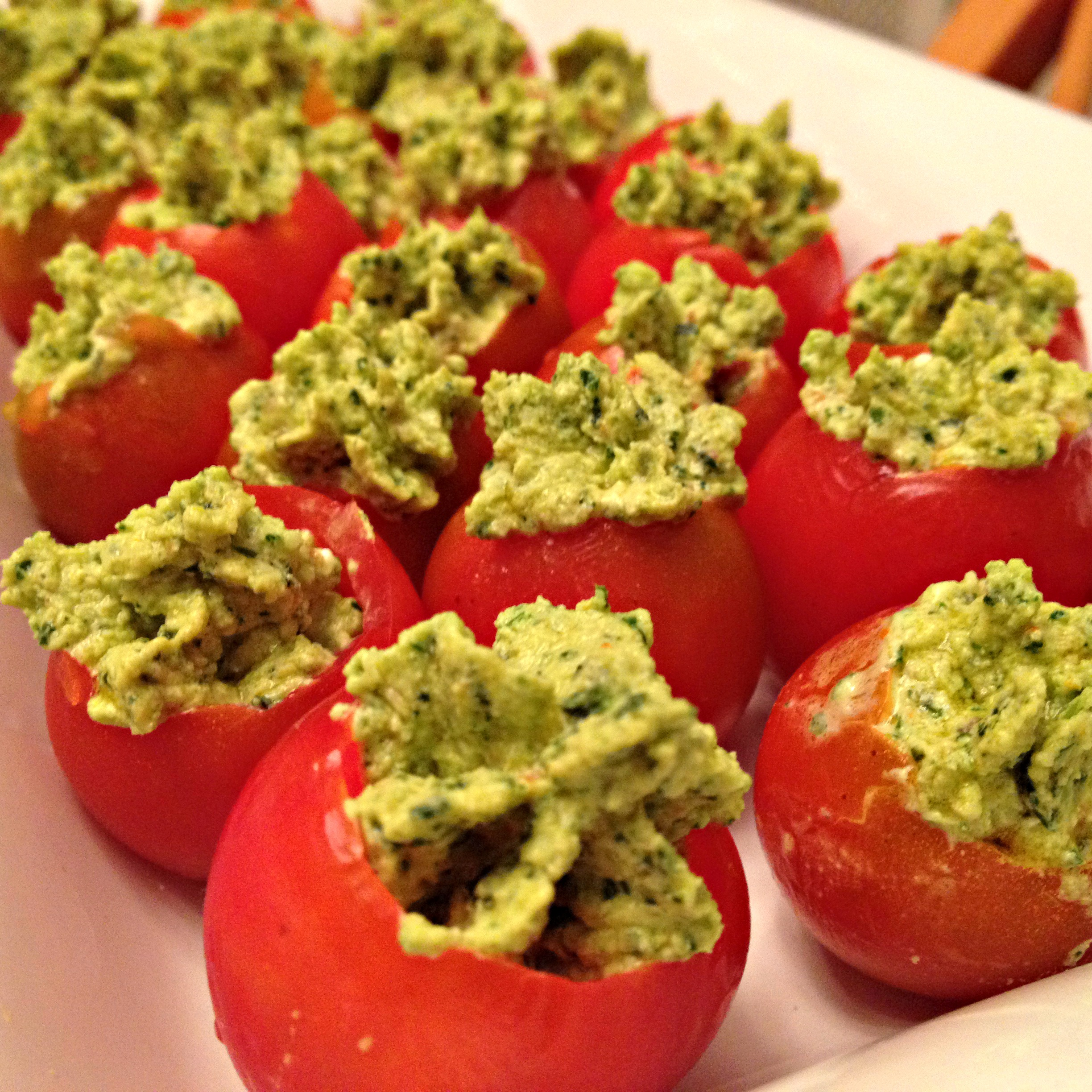 Pesto Stuffed Tomatoes