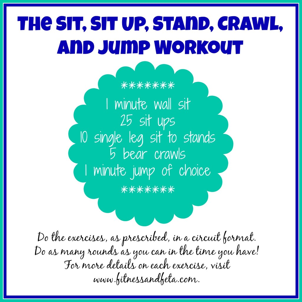The Sit, Sit Up, Stand, Crawl, and Jump Workout
