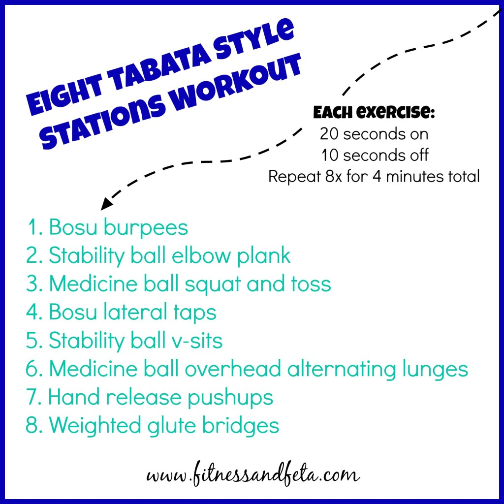 8 Tabata Style Stations Workout