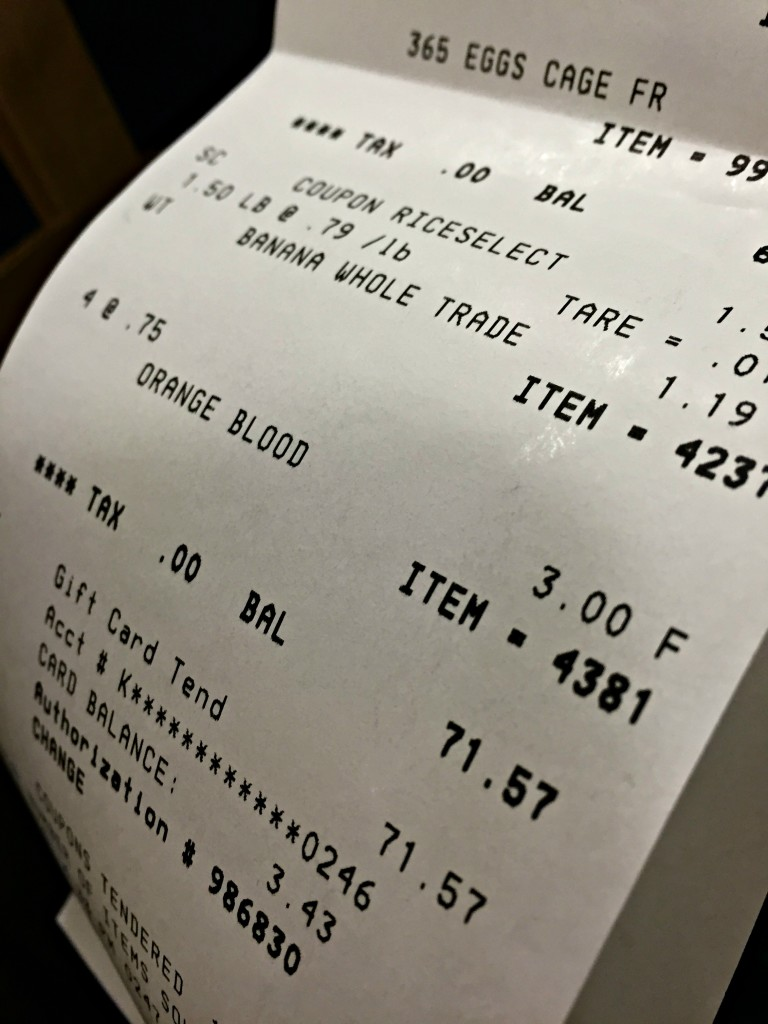 Shopping Whole Foods On a Budget