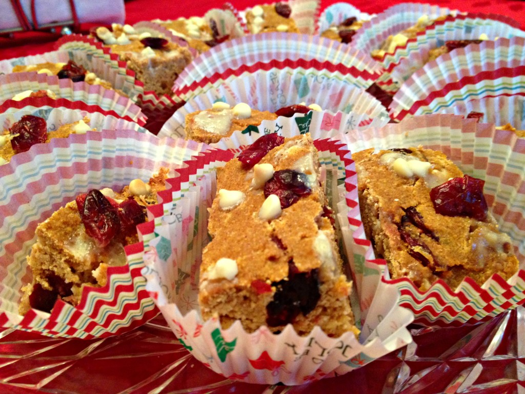 White Chocolate Cranberry Pumpkin Bars