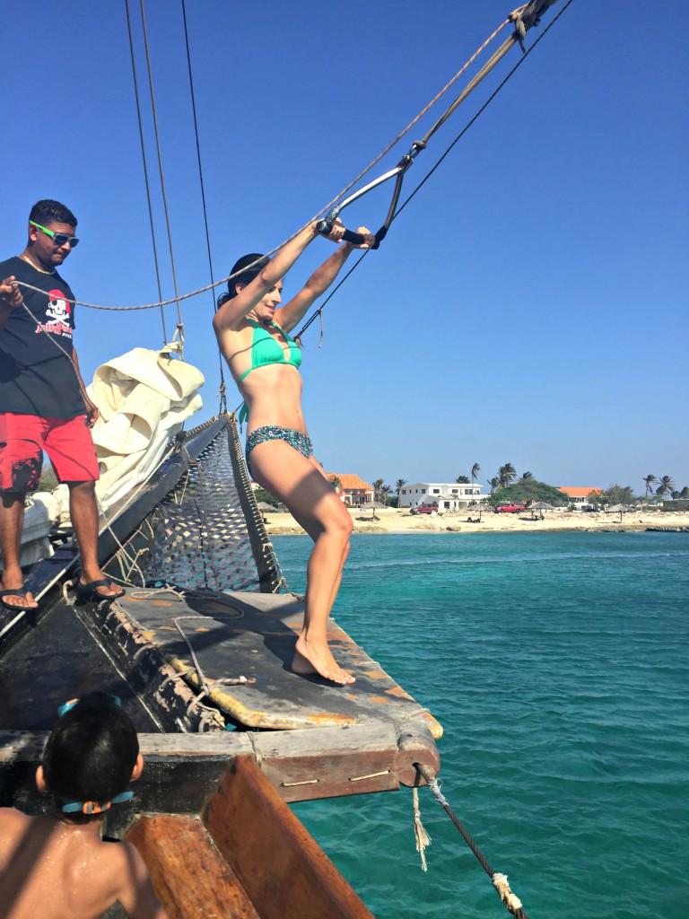 Aruba Honeymoon: Rope Swinging