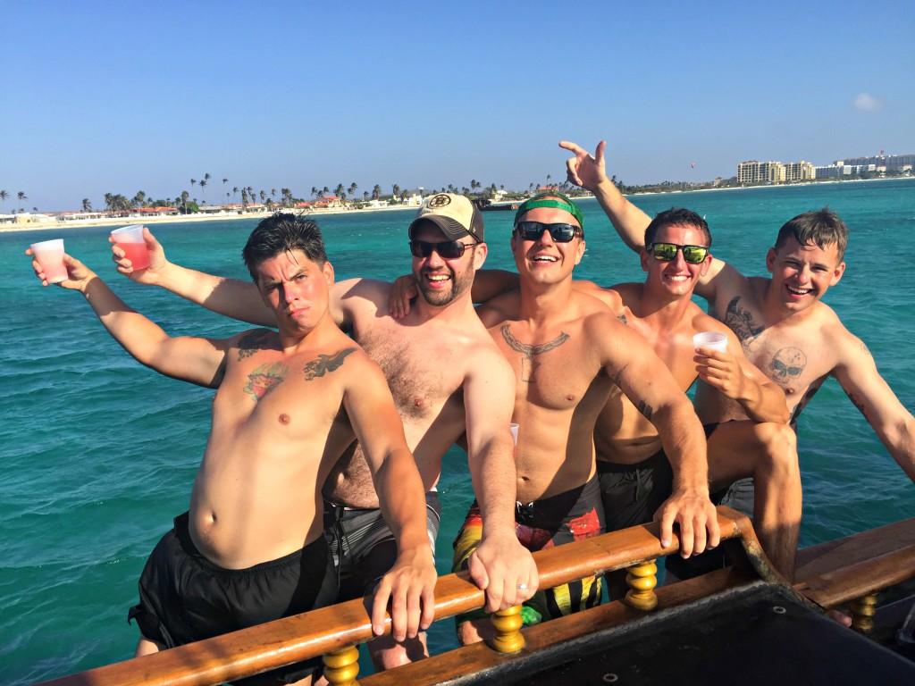 Aruba Honeymoon: Tim and New Friends