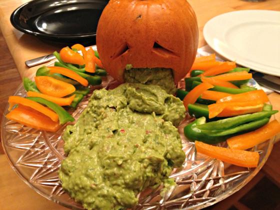 Pumpkin Guacamole Appetizer