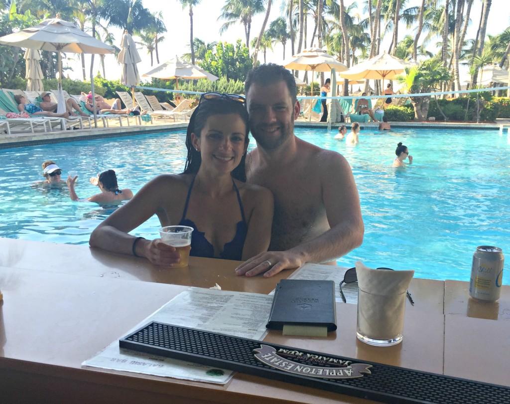 Aruba Honeymoon: Hyatt Swim Up Bar