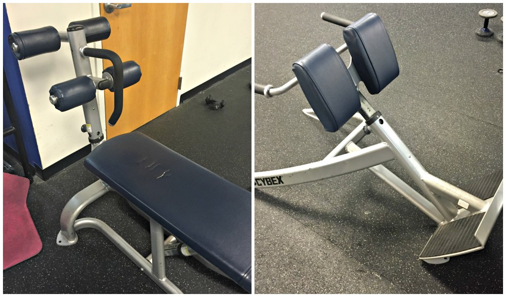 Adjustable ab bench and Hyperextension Machine