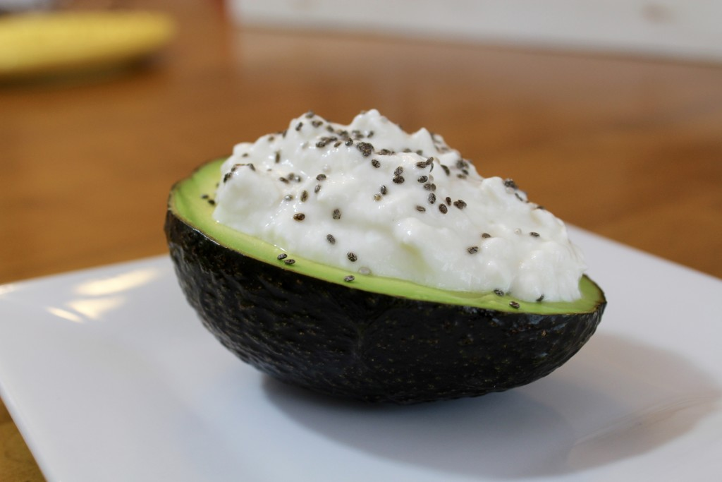 Cottage Cheese and Chia Stuffed Avocado