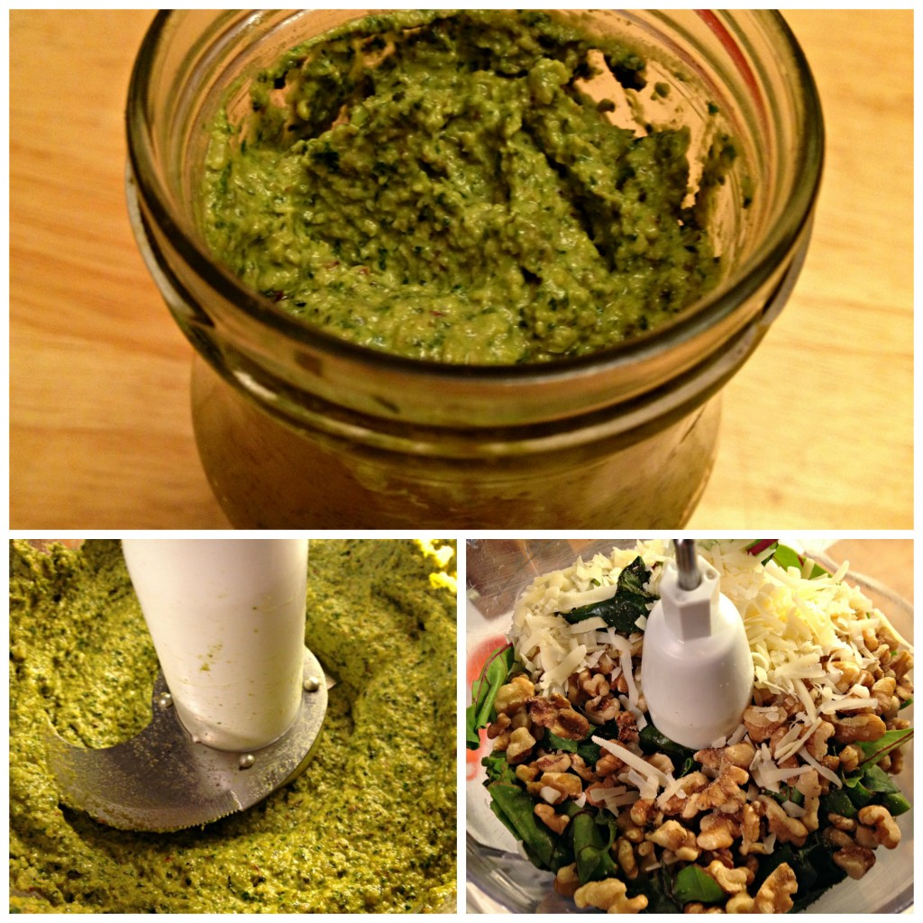Beet green pesto